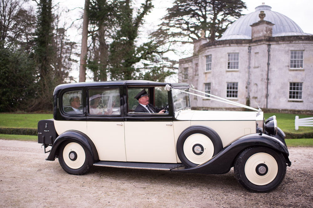 Lulworth Castle Rolls Royce wedding Car