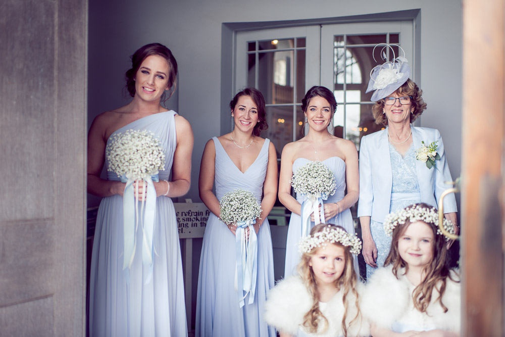 Lulworth Castle Chapel Brides Maids - Wedding Photography