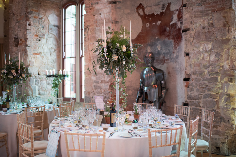 Lulworth Castle Wedding Tables