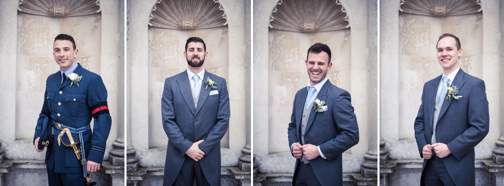 Lulworth Castle Wedding Photographer Grooms Portraits