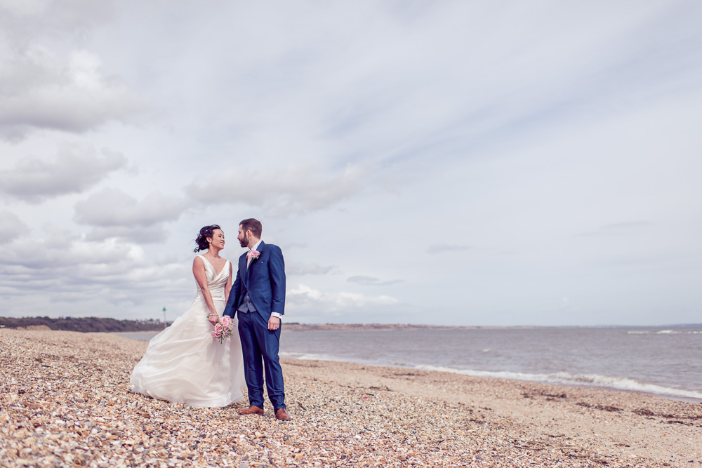 Christchurch Harbour Hotel Wedding Beach photography close to venue