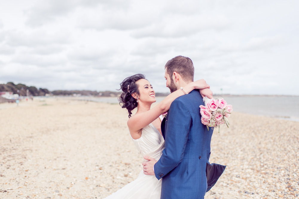 Christchurch Harbour Hotel Wedding Beach photography