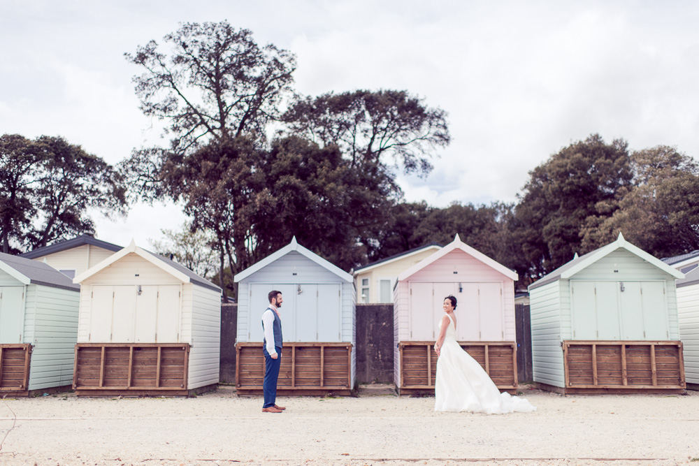 Christchurch Harbour Hotel Wedding Beach huts photography