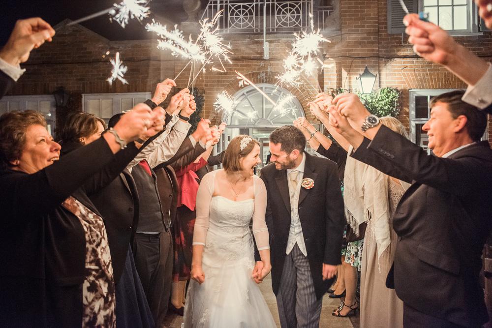 Chewton Glen wedding sparklers -_DSC4942