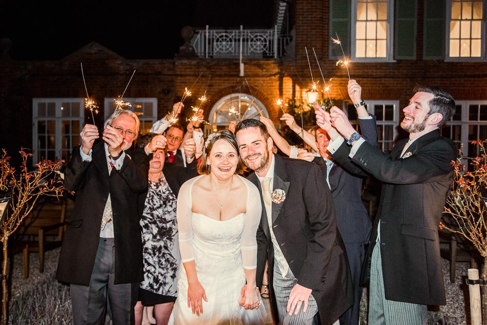 Chewton Glen wedding sparklers -_DSC4968