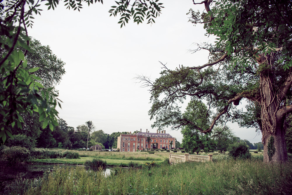 St Giles House image from the lake