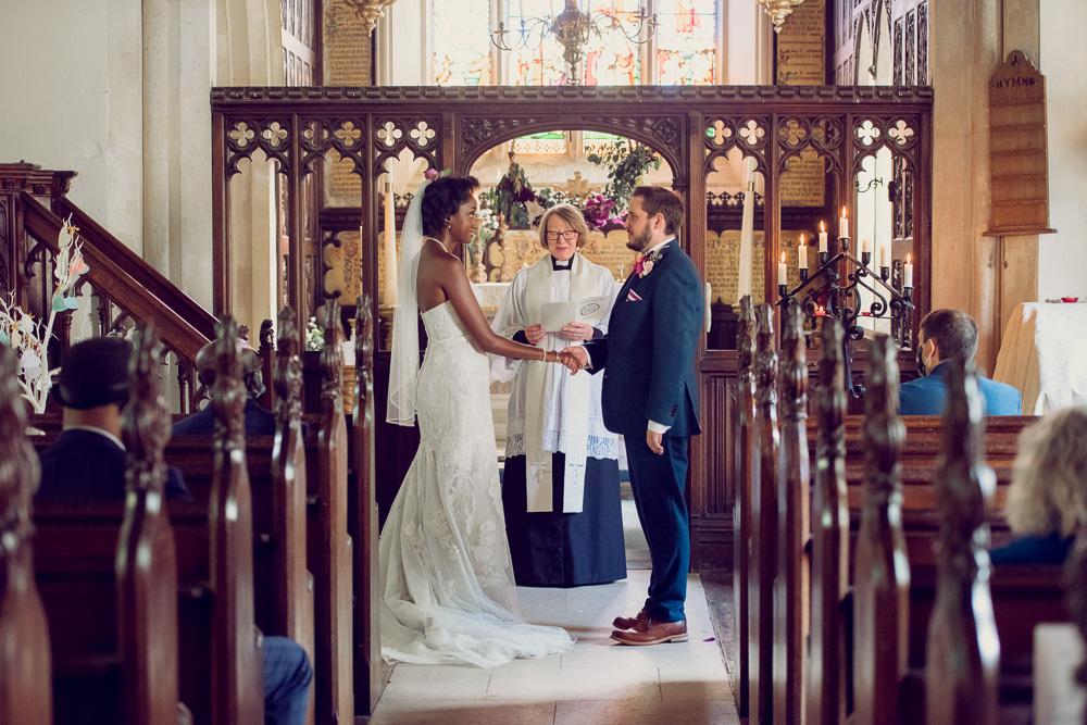 Brownsea island wedding inside church