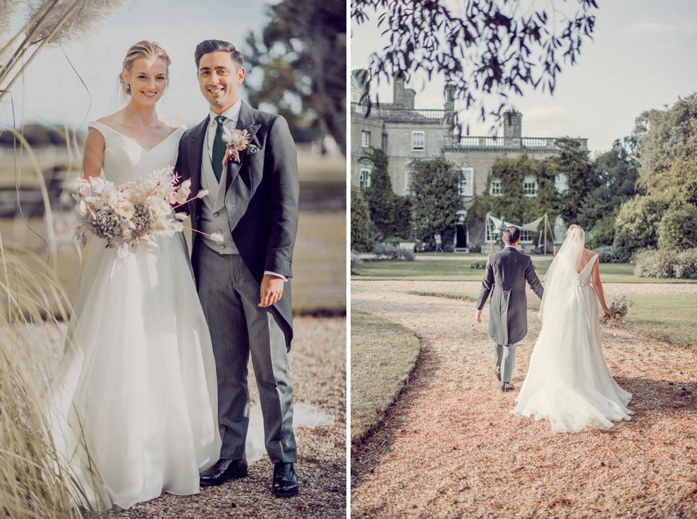 Plyewell Park wedding bride and groom