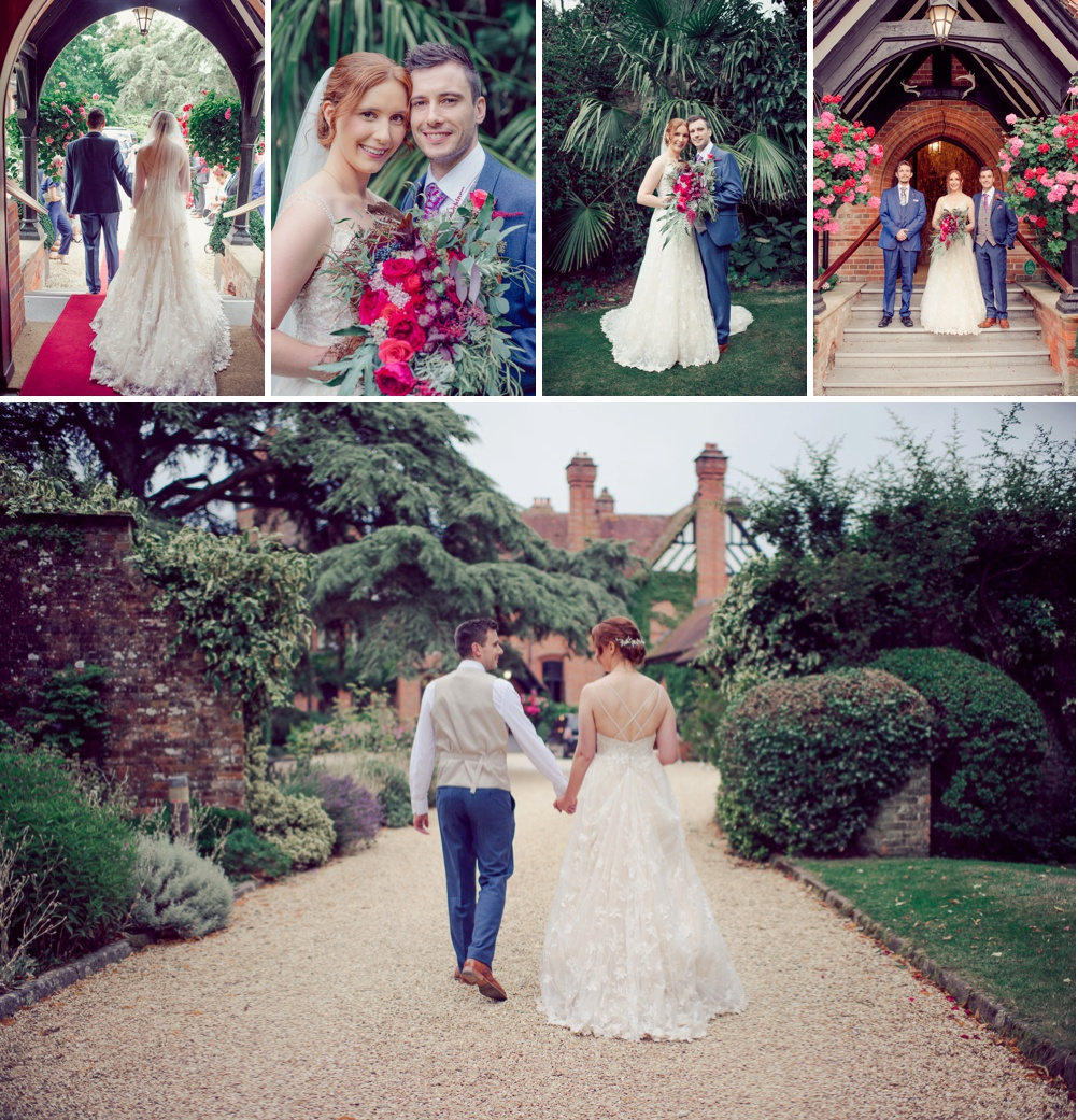 Careysmanor Bride & Groom photography at gates