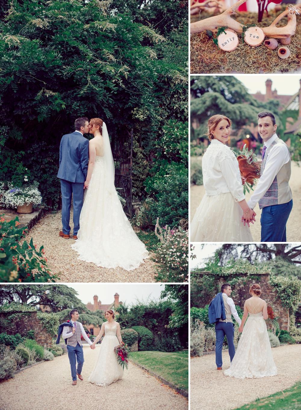 Wedding at Careysmanor in the Newforest Bride & Groom photography in Gardens