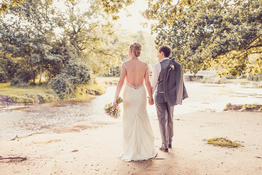 Balmer Lawn Bride and Groom Wedding Photography near river