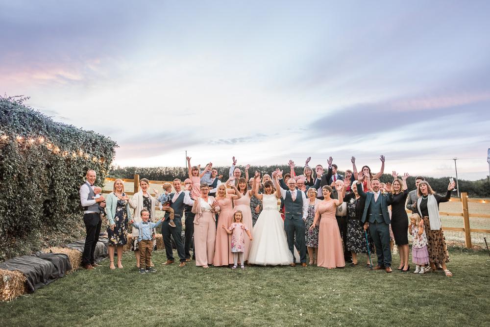 Dorset marquee wedding hay bails