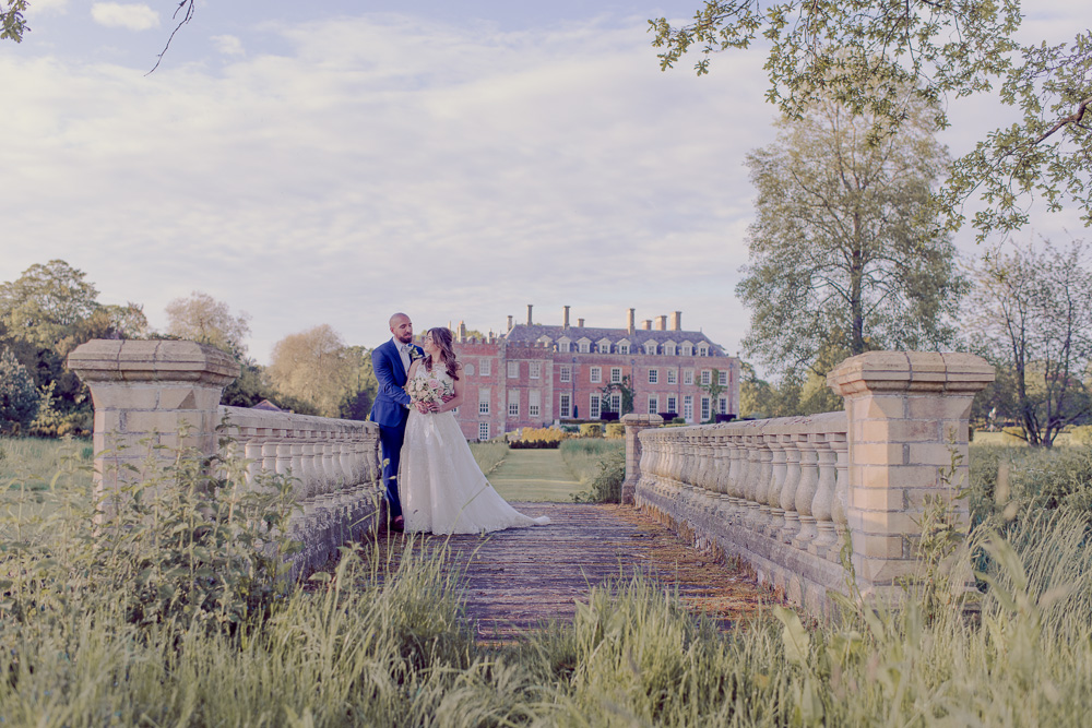 Bride & Groom at St Giles House Grounds