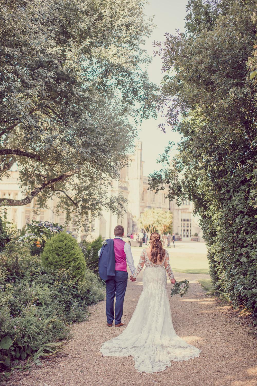 Beautiful wedding portraits at Highcliffe Castle in Dorset