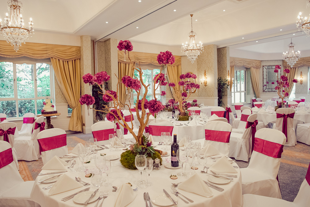 Wedding at Careysmanor with trees of orchids