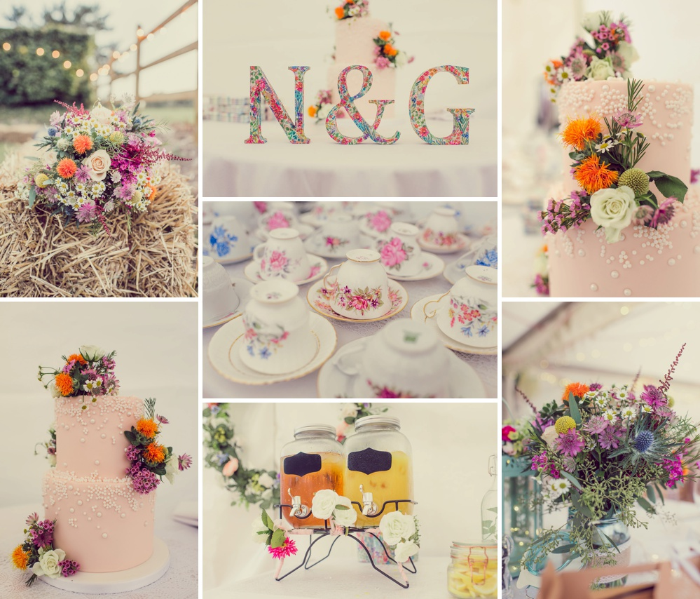 Dorset marquee wedding table decorations
