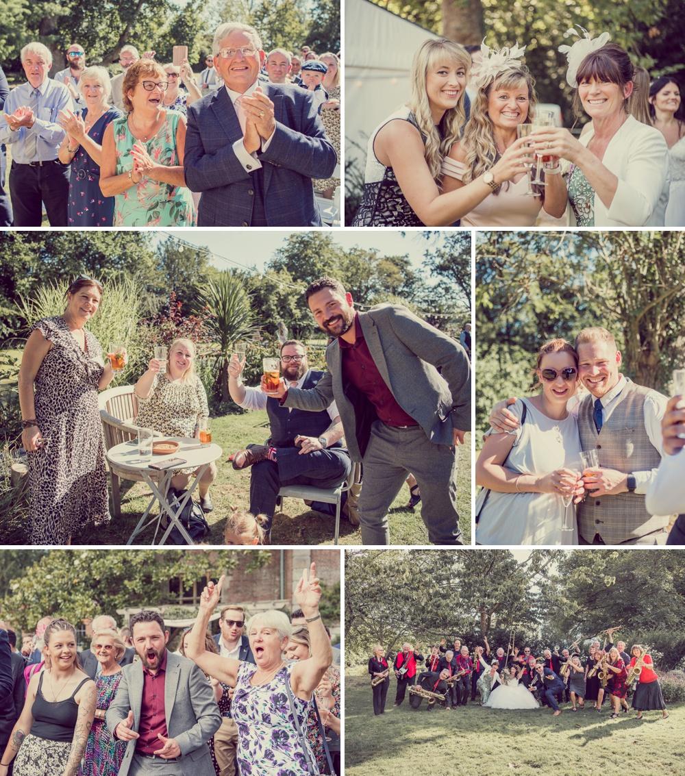 Deans Court Wedding guests
